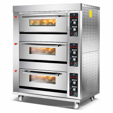 3 deck 6 trays/commercial oven for bakery/machine bakery