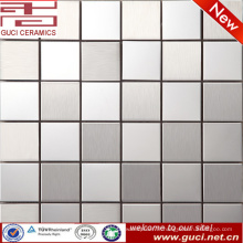 L'usine d'approvisionnement de foshan a mélangé la mosaïque carrée d'acier inoxydable pour le mur de cuisine