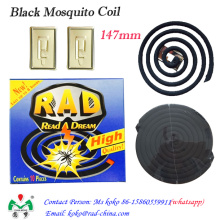Bobina de mosquito negro, bobina de mosquito no de humo, repelente mosquito bobina