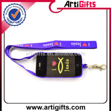 Diseño personalizado cordón elástico titular del teléfono celular