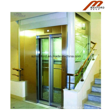 Sicherheitsglas Car Villa Aufzug für Residence