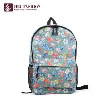 Хек Подгонянная большая Емкость дети школьные сумки зеленый Цветочный узор опрятный Стиль Открытый рюкзак для девочек-подростков