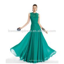 HC4235 laço sereia vestidos de noite Green Lace Appliqued Gathered Chiffon baixa cintura Sexy Revelando vestidos de noite