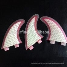 2015 nuevas aletas de surf de fibra de vidrio estilo panal