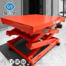 SJG plataforma de elevación de tijera hidráulica fija para elevación de carga / plataforma de trabajo aéreo