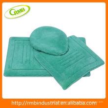 Estera de baño acrílica 3pcs con el artículo del hogar de la parte posterior del látex
