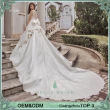 Vestidos de casamento de luxo vestidos Guangzhou fábrica no atacado designer vestido de noiva vestido de noiva princcess vestido de noiva de cetim