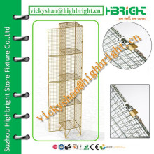 steel wall lockers wire mesh lockers/mesh lockers on sale