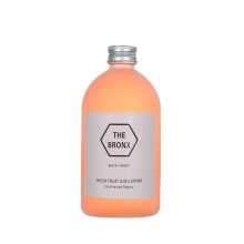 500ml 16oz high quality frosted cold press juice glass bottle with label and metal lid