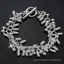 Wholesale 925 Silver Jewelry Bracelet with Charms BSS-026