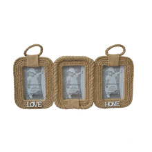 Hemp Rope Collage Photo Frame for Home Decoration
