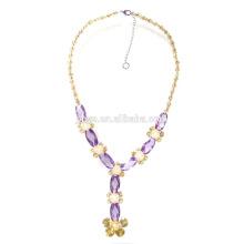 Forme el collar de lujo de la declaración de la forma del zircon Y para el partido o la demostración