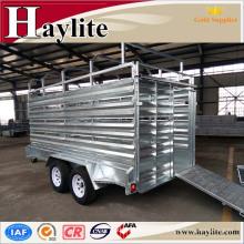 remolque de ganado con venta caliente galvanizada en caliente HLT