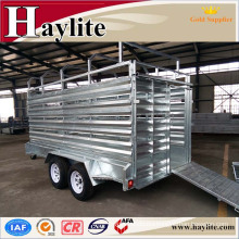 cattle trailer with Hot dip galvanized hot sale HLT