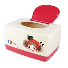 Modische Cartoon Design Kunststoff Tissue Box (ZJH051)