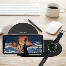 2 in1 10W Samsung phone wireless charger