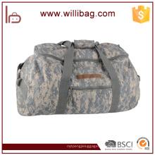 Design personalizado camuflagem Caminhadas Sacos Saco De Viagem De Alta Qualidade Da Lona Duffle Bag
