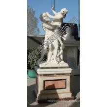 Statue en sculpture de marbre en pierre de marbre pour décoration de jardin (SY-X1325)