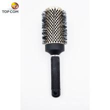 Cepillo de peinado profesional para un cabello saludable, sin frizz, sin pelo, liso o rizado El mejor cepillo de pelo redondo y seco con cerdas de jabalí
