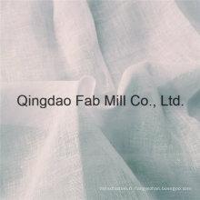 Tissu de lin naturel blanc (QF16-2535)