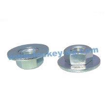 Carbon Steel Big Flange Nut, Zinc Plated