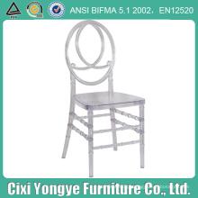 Plexi Resin Plastic Phoenix Chair para Casamentos