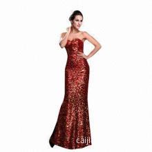 Luxury Sequin Mermaid Sweetheart Decent Evening Dress