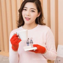 best selling warm outdoor cashmere fingerless glove to keep warm