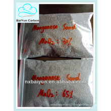 médias filtrants de sable de manganèse pour la purification d'eaux d'égout