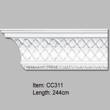 Lättvikt Polyuretan Injection Cornice Mouldings