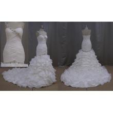 Vestido de novia hecho de vestido de novia de organza