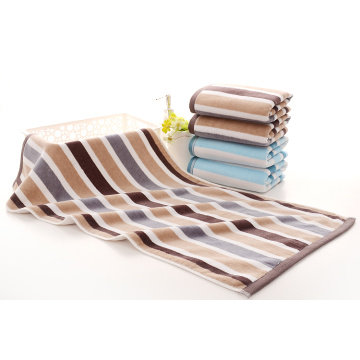 Cut Pile Yarn Dicelup Stripe Towels