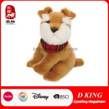 6 ′ ′ Lovely Sitting Plush Stuffed Boneca Toy Soft Dog para Crianças