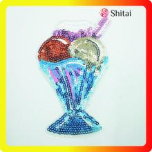 China Gold Supplier for Sequin Patches Directly factory sale ice creams sequins patch export to Indonesia Exporter