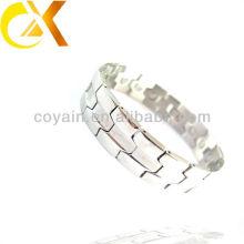 Homens jóias pulseira de prata de aço inoxidável fabricante