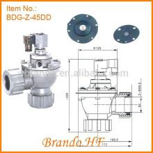 """G Válvula de pulso de diafragma de diafragma integrado de diafragma duplo de 1,5 """""""
