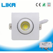 1W carré réglable oeil boule montage COB Downlight