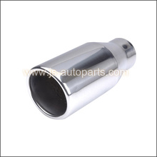 "2.25"" ROUND ROLLED IN SPORTS EXHAUST TAIL PIPE STRAIGHT CUT"