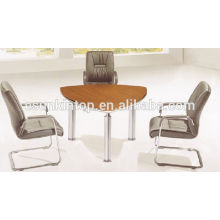 Pies de acero de mancha y escritorio de recepción de oficina superior de melamina (KM930)
