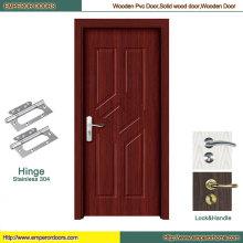 Puerta del PVC de Turquía de la puerta de la chapa del MDF de la puerta de la habitación del MDF