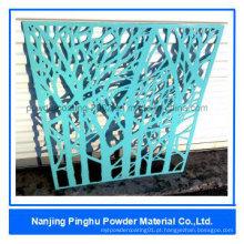 Revestimento de resina epóxi azul claro