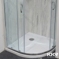 600 Mm Weiß Schwarz Farbe Marmor Harz Künstliche Stein Deep Shower Pan Dusche Basis Duschwanne