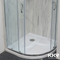 600Mm White Black Color Marble Resin Artificial Stone Deep Shower Pan Shower Base Shower Tray