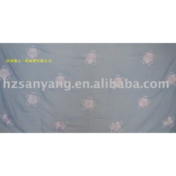 100% polyester  embroidery scarf