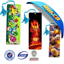 China New High Quality Lenticular 3D Bookmarks