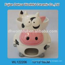 Ensemble de fondue en céramique en forme de boule de forme de vache