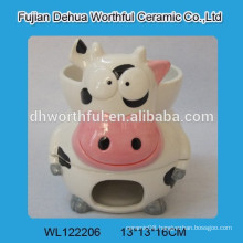Lovely cow ceramic chocolate fondue pot
