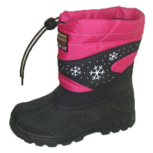 Popular Snow Boots / Injection Shoes with Nylon Oxford Upper (SNOW-190009)