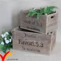 Bauernhof-Kiste Antike alte zurückgewonnene hölzerne Blumen-Pflanze-Topf