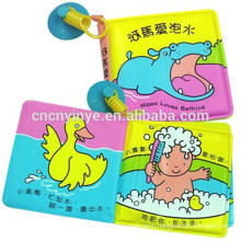 Water resistant EVA bath book for kids, educational plastic baby bath book